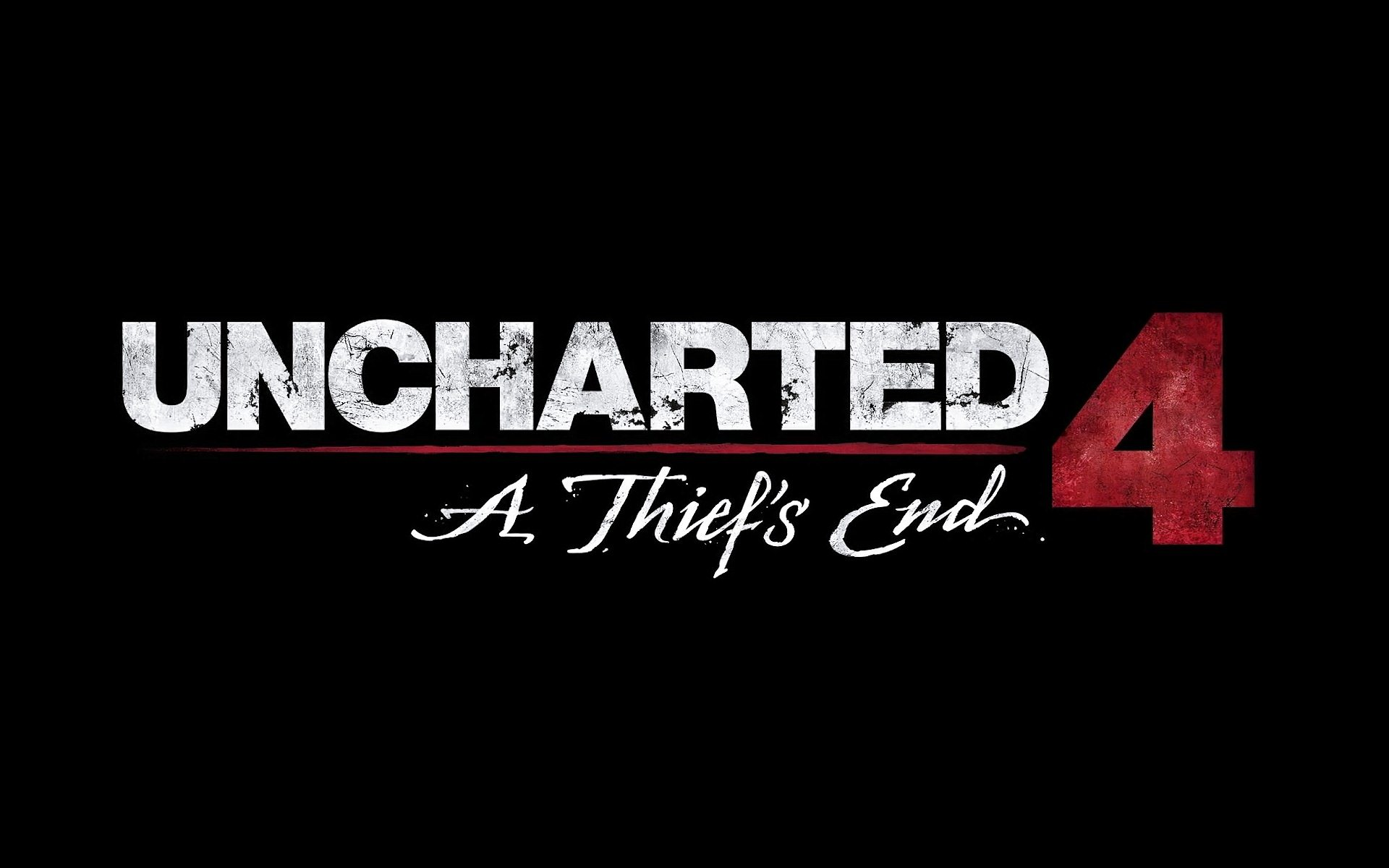Uncharted 4 A Thiefs End Game Logo Wallpaper