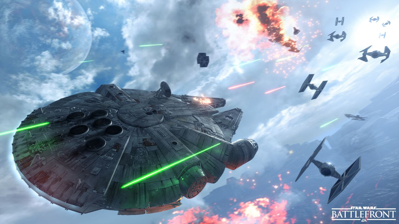 star wars battlefront - falcon